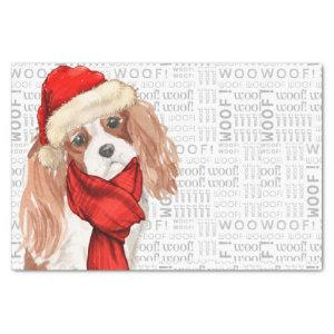 Woof Word Art and Christmas Cocker Spaniel Tissue Paper