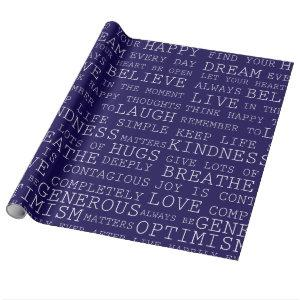 Words of Inspiration Wrapping Paper