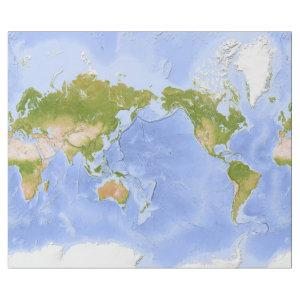 World Mercator Map Wrapping Paper