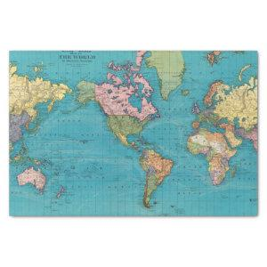 World, Mercator's Projection Tissue Paper