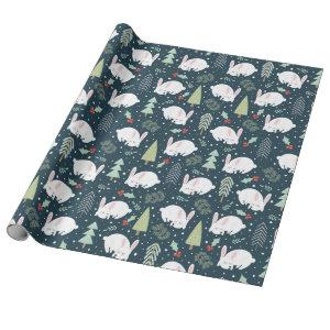 Wrapping Paper - Christmas Bunnies