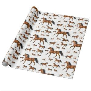 Wrapping paper Horses