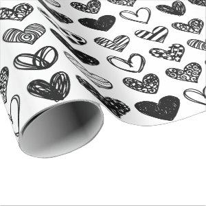 Wrapping Paper - Multi Patterned Hearts
