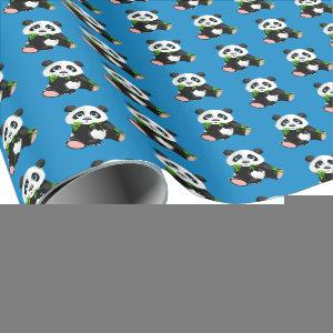 Wrapping Paper-Panda Bear Wrapping Paper