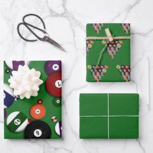 Wrapping Paper Set - Billiards