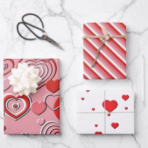 Wrapping Paper Set - Valentines Collection I