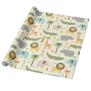 Wrapping Paper - Zoo Party