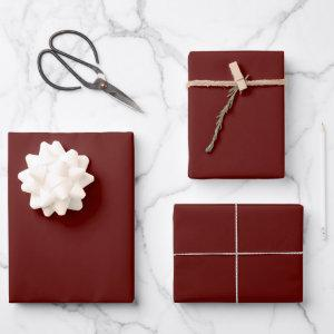 Xmas Wine Solid Color Wrapping Paper Sheets