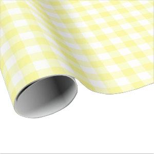 Yellow and White Gingham Wrapping Paper