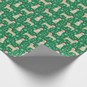 Yellow Labrador Christmas dog Wrapping Paper