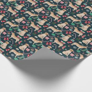 Yellow Labrador Christmas wrapping paper