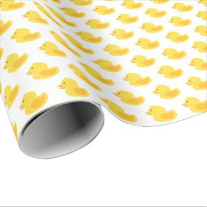 Yellow Rubber Ducky Wrapping Paper