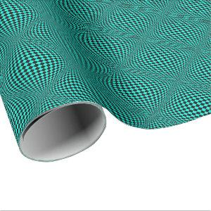 Your Color with Op Art Checkers Wrapping Paper
