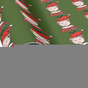 Your Photo Here Christmas Elf Personalized Wrapping Paper