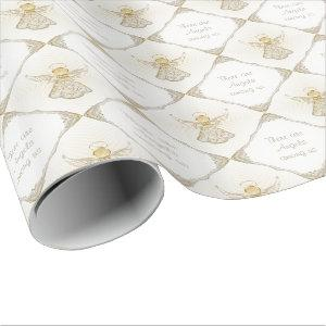 Your text -  Christmas Angel of Grace Pattern Wrapping Paper