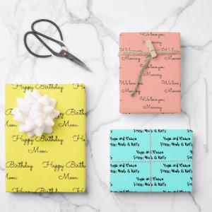 Your Words for Mom on her Birthday Gift  Sheets