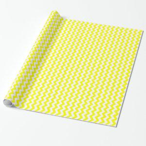 Zigzag I - White and Yellow Wrapping Paper